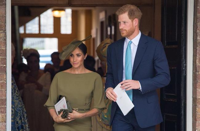 Krsta sta se udeležila tudi prince Harry s soprogo Meghan. (foto: Facebook/The Royal Family)